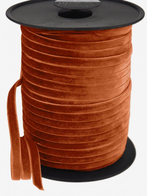 samtband-gewebt-rostorange-schimmernd-hochwertig